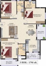 1790 sqft, 3 bhk Apartment in Mahindra Ashvita Kukatpally, Hyderabad at Rs. 0