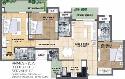 1575 sqft, 3 bhk Apartment in TATA Eureka Park Phase 1 Sector 150, Noida at Rs. 0