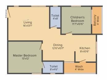 1252 sqft, 2 bhk Apartment in Hallmark Silvanus Manikonda, Hyderabad at Rs. 0