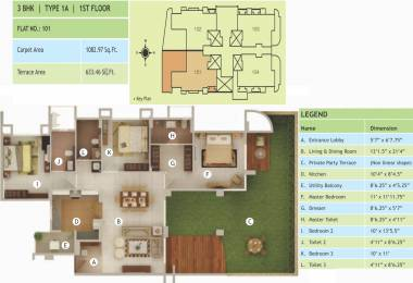 1546 sqft, 3 bhk Apartment in Rucha Vantage Baner, Pune at Rs. 0