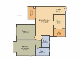 1265 sqft, 2 bhk Apartment in DNR Casablanca Mahadevapura, Bangalore at Rs. 0