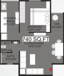740 sqft, 1 bhk Apartment in Bakeri Shaunak Vejalpur Gam, Ahmedabad at Rs. 0