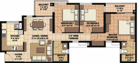 1262 sqft, 3 bhk Apartment in Akshaya Orlando Kelambakkam, Chennai at Rs. 0