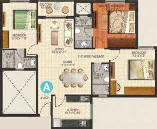 1510 sqft, 3 bhk Apartment in Ideal Aquaview Salt Lake City, Kolkata at Rs. 0