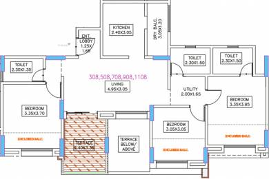 747.02 sqft, 3 bhk Apartment in Guardian Hill Shire Phase 1 Wagholi, Pune at Rs. 0