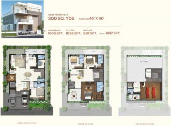 4157 sqft, 4 bhk Villa in Magna Majestic Meadows Kollur, Hyderabad at Rs. 0