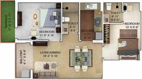923 sqft, 2 bhk Apartment in Merlin Verve Tollygunge, Kolkata at Rs. 0