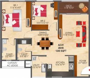 1240 sqft, 2 bhk Apartment in SNN Raj Etternia Harlur, Bangalore at Rs. 0