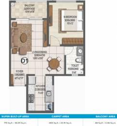 719 sqft, 1 bhk Apartment in Brigade Buena Vista Phase 2 Budigere Cross, Bangalore at Rs. 0
