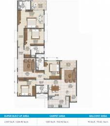 2437 sqft, 4 bhk Apartment in Brigade Buena Vista Phase 2 Budigere Cross, Bangalore at Rs. 0