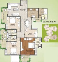 2070 sqft, 3 bhk Apartment in Spaze Privy AT4 Sector 84, Gurgaon at Rs. 0