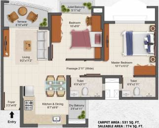 774 sqft, 2 bhk Apartment in TATA La Montana Talegaon Dabhade, Pune at Rs. 0