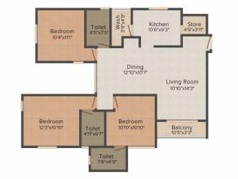 975 sqft, 3 bhk Apartment in Applewoods Sorrel Shela, Ahmedabad at Rs. 0