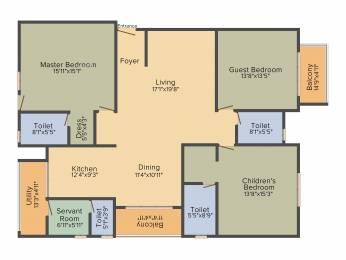 2363 sqft, 3 bhk Apartment in Salarpuria Sattva Magnificia Mahadevapura, Bangalore at Rs. 0