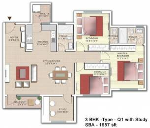 1657 sqft, 3 bhk Apartment in SJR Palazza City Sarjapur Road Wipro To Railway Crossing, Bangalore at Rs. 0