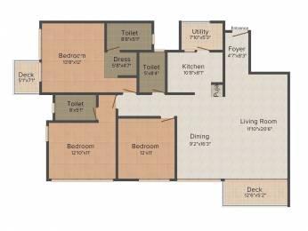 1850 sqft, 3 bhk Apartment in SNN Raj Etternia Harlur, Bangalore at Rs. 0
