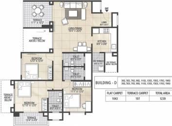 1672 sqft, 3 bhk Apartment in Kolte Patil 24K Sereno Baner, Pune at Rs. 0