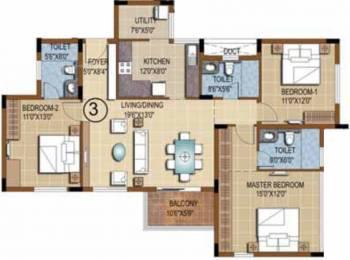 1711 sqft, 3 bhk Apartment in Purva Skydale Harlur, Bangalore at Rs. 0
