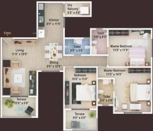 1565 sqft, 3 bhk Apartment in Manav Perfect 10 Balewadi, Pune at Rs. 0