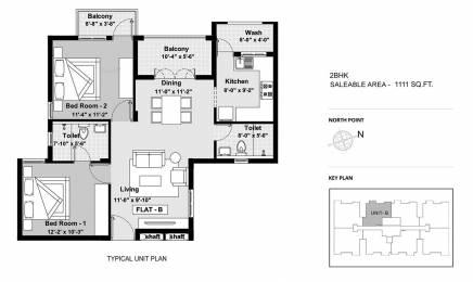 1111 sqft, 2 bhk Apartment in BBCL Ashraya Thoraipakkam OMR, Chennai at Rs. 0