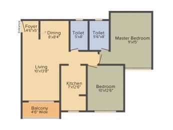 1085 sqft, 2 bhk Apartment in BSCPL Bollineni Silas KR Puram, Bangalore at Rs. 0