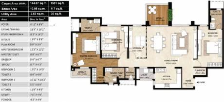 2370 sqft, 3 bhk Apartment in Mahindra Windchimes Bilekahalli, Bangalore at Rs. 0