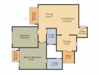 1283 sqft, 2 bhk Apartment in Godrej Eternity Kanakapura Road Beyond Nice Ring Road, Bangalore at Rs. 0