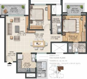 1381 sqft, 2 bhk Apartment in Sobha City Sector 108, Gurgaon at Rs. 0