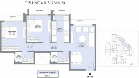 641.1 sqft, 2 bhk Apartment in L&T Emerald Isle T15 Powai, Mumbai at Rs. 0