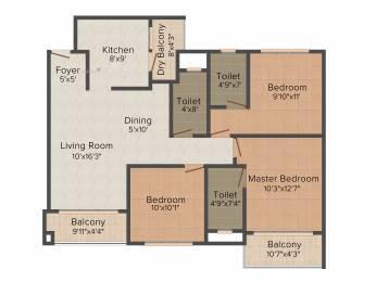 1489 sqft, 3 bhk Apartment in Godrej Palm Grove Mevalurkuppam, Chennai at Rs. 0