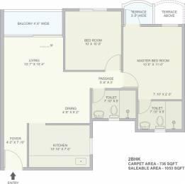 1053 sqft, 2 bhk Apartment in TATA La Montana Talegaon Dabhade, Pune at Rs. 0