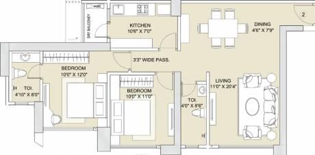 809 sqft, 2 bhk Apartment in Sunteck City Avenue 1 Goregaon West, Mumbai at Rs. 0