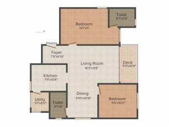 1270 sqft, 2 bhk Apartment in SNN Raj Etternia Harlur, Bangalore at Rs. 0