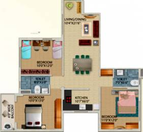 1294 sqft, 3 bhk Apartment in Primarc Projects and Srijan Realty and Riya Group Southwinds Sonarpur, Kolkata at Rs. 0