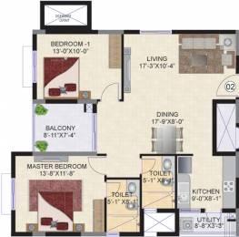 1218 sqft, 2 bhk Apartment in Mahindra Ashvita Kukatpally, Hyderabad at Rs. 0
