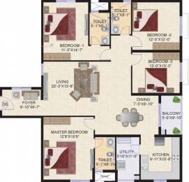 2070 sqft, 4 bhk Apartment in Mahindra Ashvita Kukatpally, Hyderabad at Rs. 0
