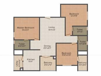 1636 sqft, 3 bhk Apartment in Mahindra Ashvita Kukatpally, Hyderabad at Rs. 0