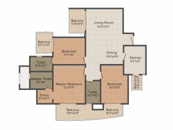 1799 sqft, 3 bhk Apartment in DLF The Primus Sector 82A, Gurgaon at Rs. 0