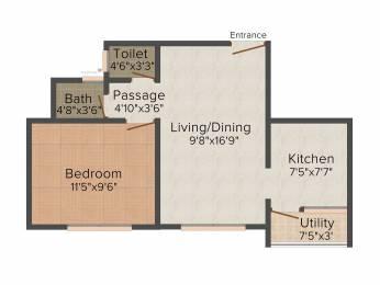 677 sqft, 1 bhk Apartment in Adani Pratham Near Nirma University On SG Highway, Ahmedabad at Rs. 0