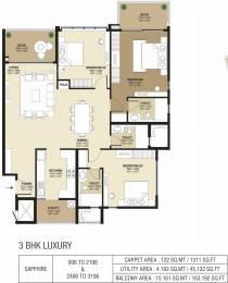 1311 sqft, 3 bhk Apartment in Shapoorji Pallonji ParkWest Chamarajpet, Bangalore at Rs. 0
