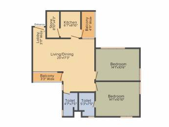 1190 sqft, 2 bhk Apartment in Shrachi Greenwood Nest New Town, Kolkata at Rs. 0