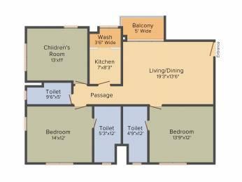 1706 sqft, 3 bhk Apartment in Srijan Ozone Narendrapur, Kolkata at Rs. 0