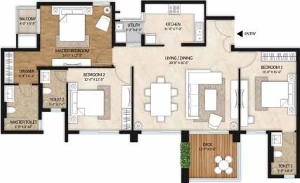 1792 sqft, 3 bhk Apartment in Mahindra Windchimes Bilekahalli, Bangalore at Rs. 0