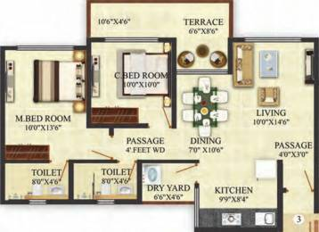 1094 sqft, 2 bhk Apartment in Puraniks Aldea Anexo Baner, Pune at Rs. 0