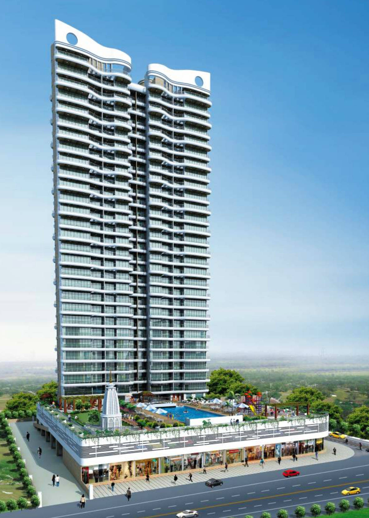 1265 sq ft 2BHK 2BHK+2T (1,265 sq ft) Property By Bhoomi Enterprises In Sai Miracle, Kharghar