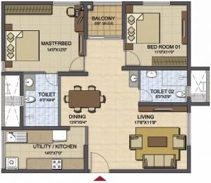 1283 sqft, 2 bhk Apartment in Prestige High Fields Gachibowli, Hyderabad at Rs. 0