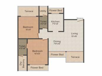 1350 sqft, 2 bhk Apartment in Bhagwati Greens 1 Kharghar, Mumbai at Rs. 0