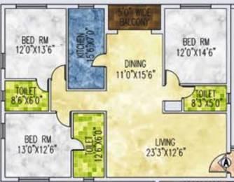 2045 sqft, 3 bhk Apartment in Jain Dream One New Town, Kolkata at Rs. 0