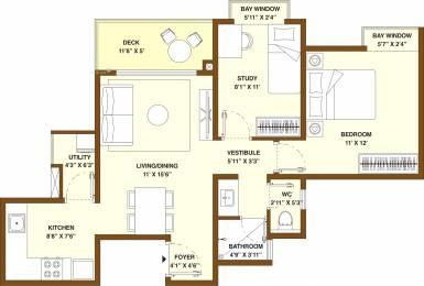 908 sqft, 1 bhk Apartment in Bhartiya Nikoo Homes 2 Kannur on Thanisandra Main Road, Bangalore at Rs. 0