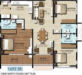 1692 sqft, 3 bhk Apartment in DSR Waterscape Horamavu, Bangalore at Rs. 0